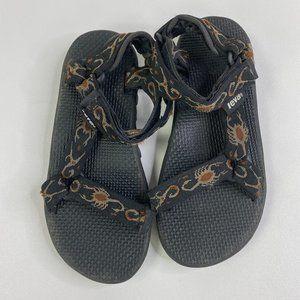 Teva Scorpion Black Tan Insect Bug Sandals